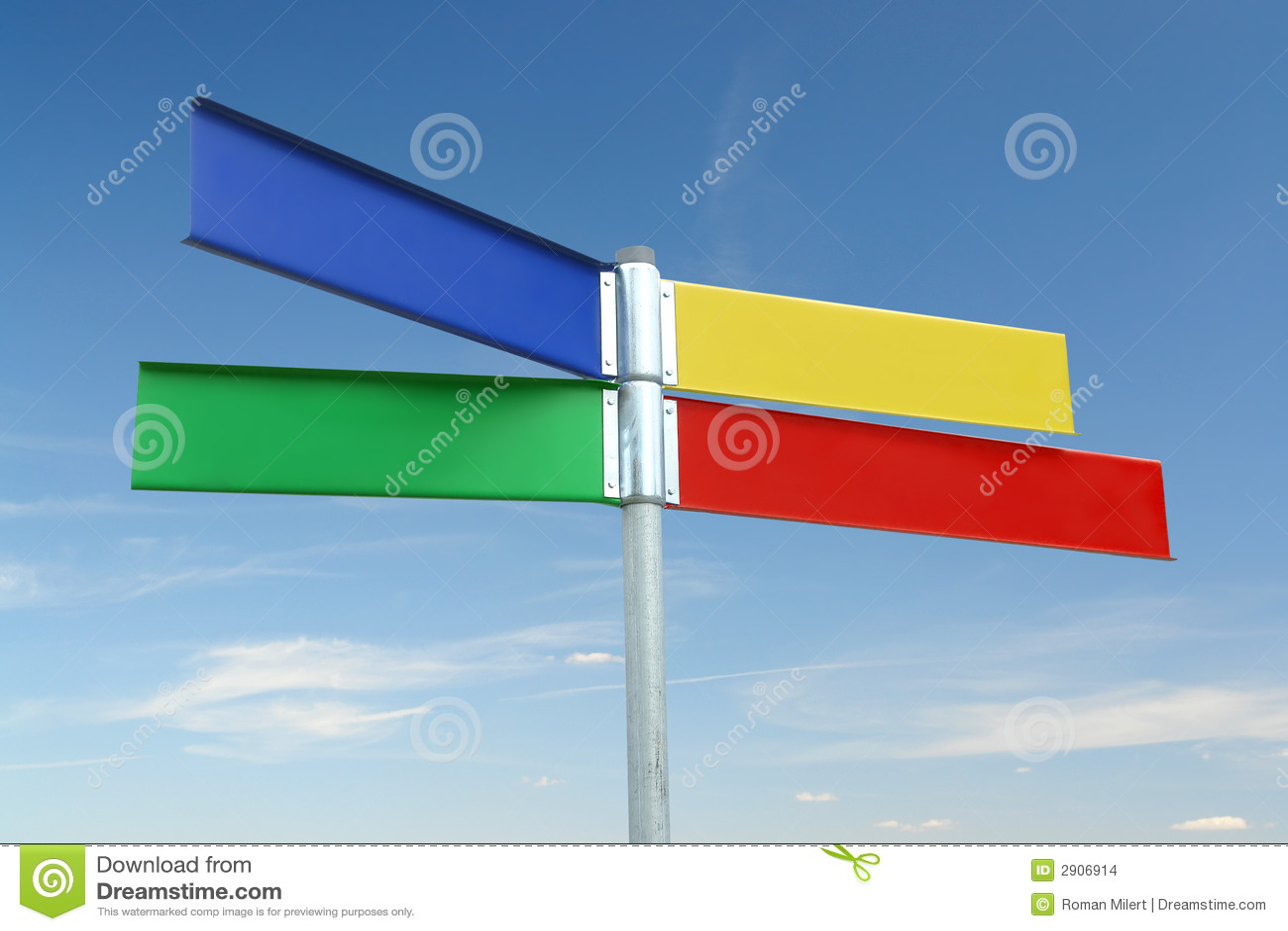 Poteau indicateur de couleur de Multway