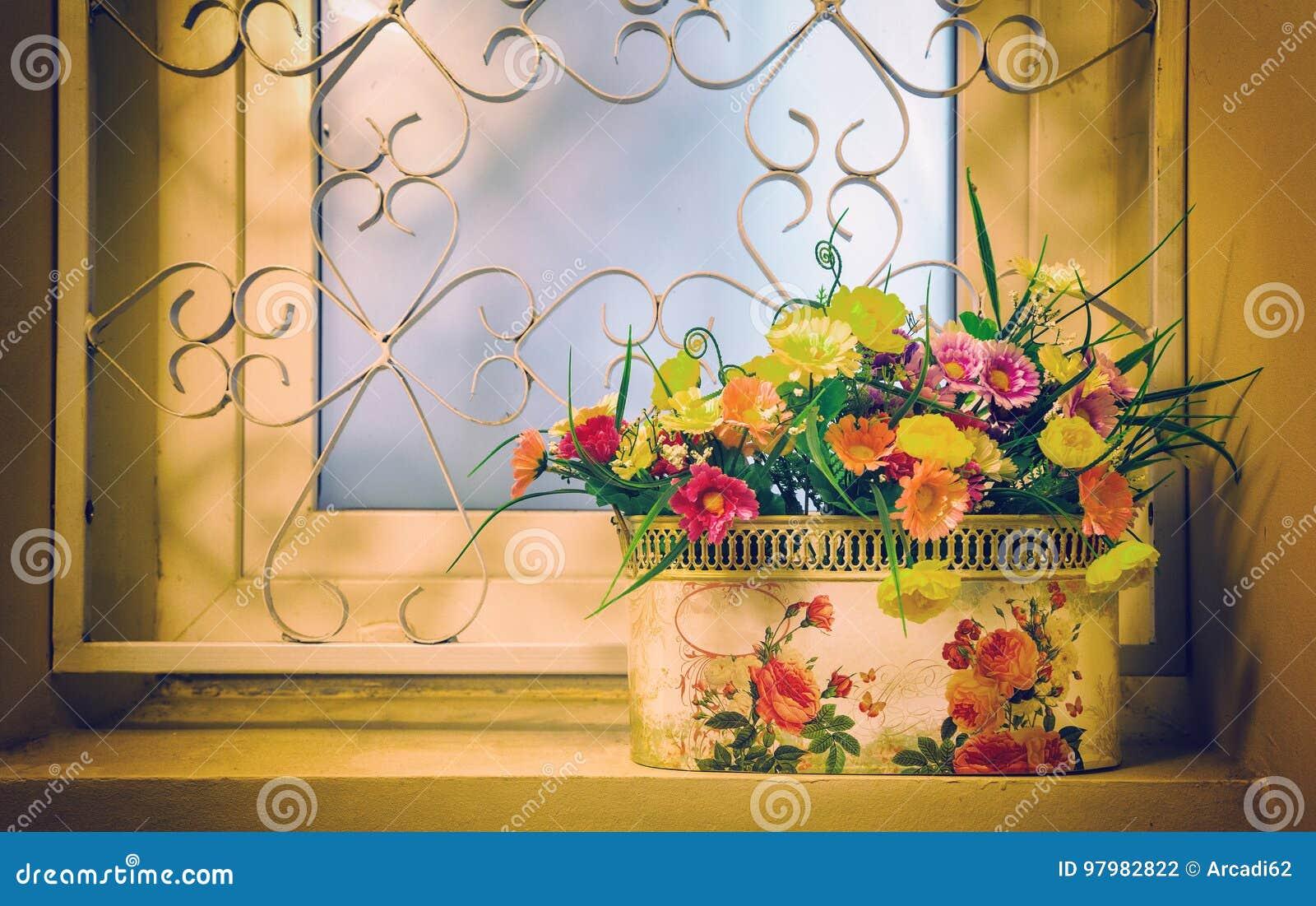 Potenciômetro das flores na janela