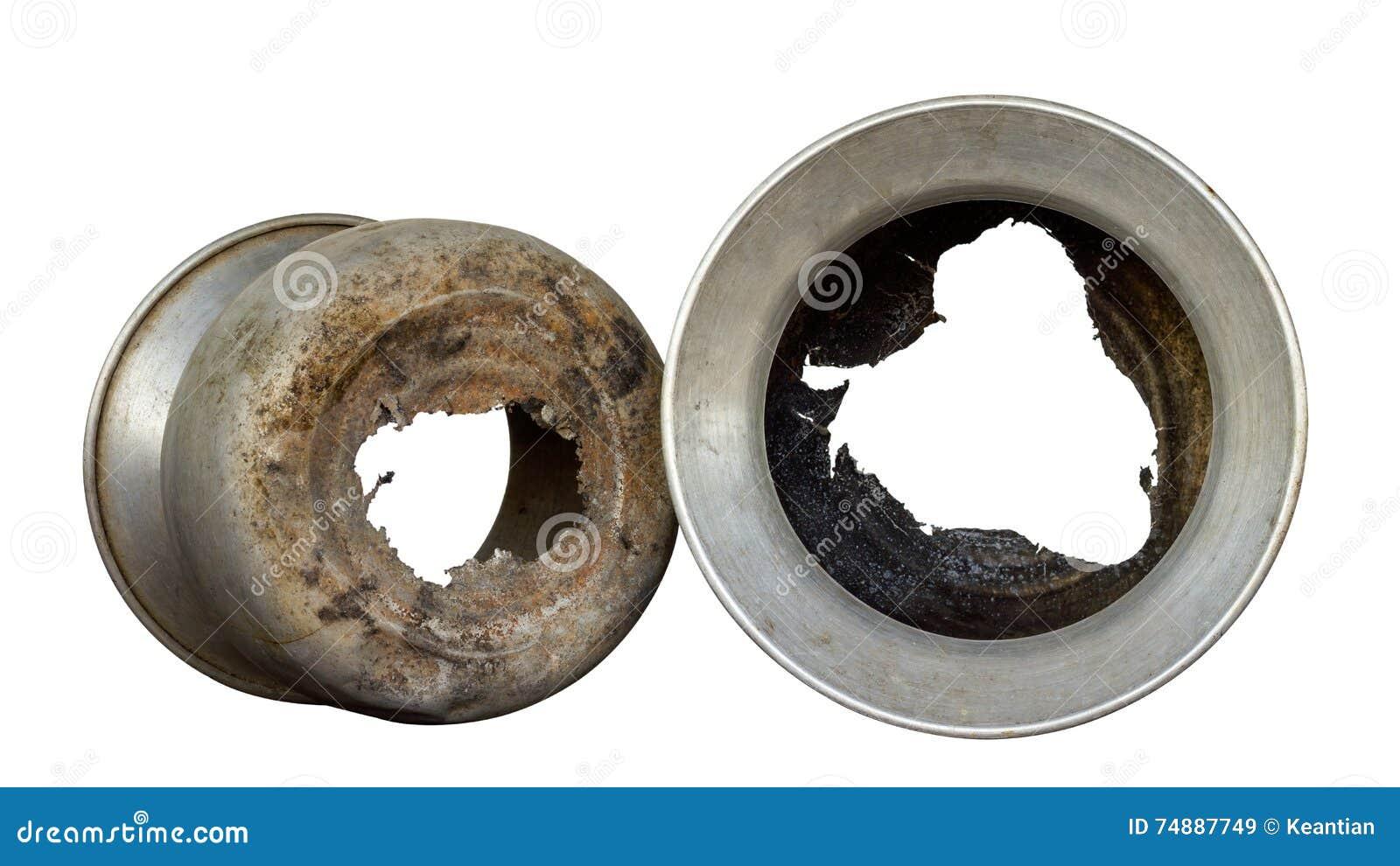 Potenciômetros de alumínio do isolado danificados