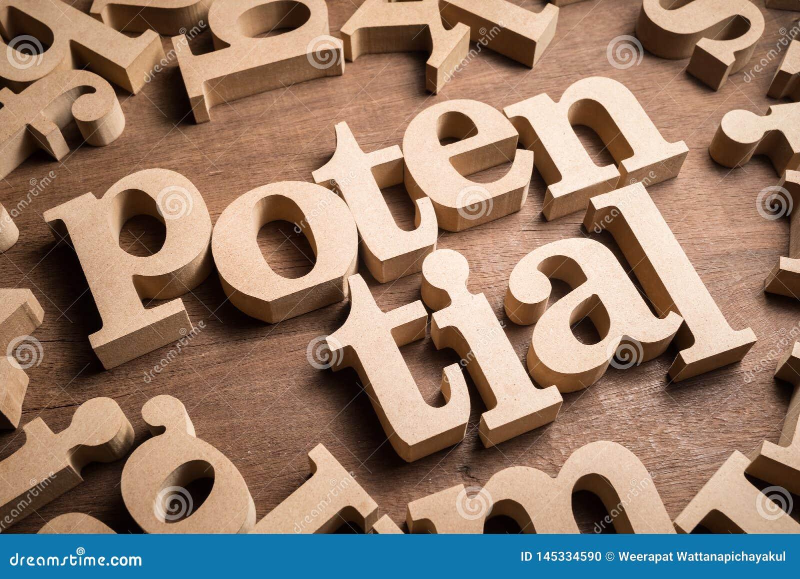 Potentieel Houten Word