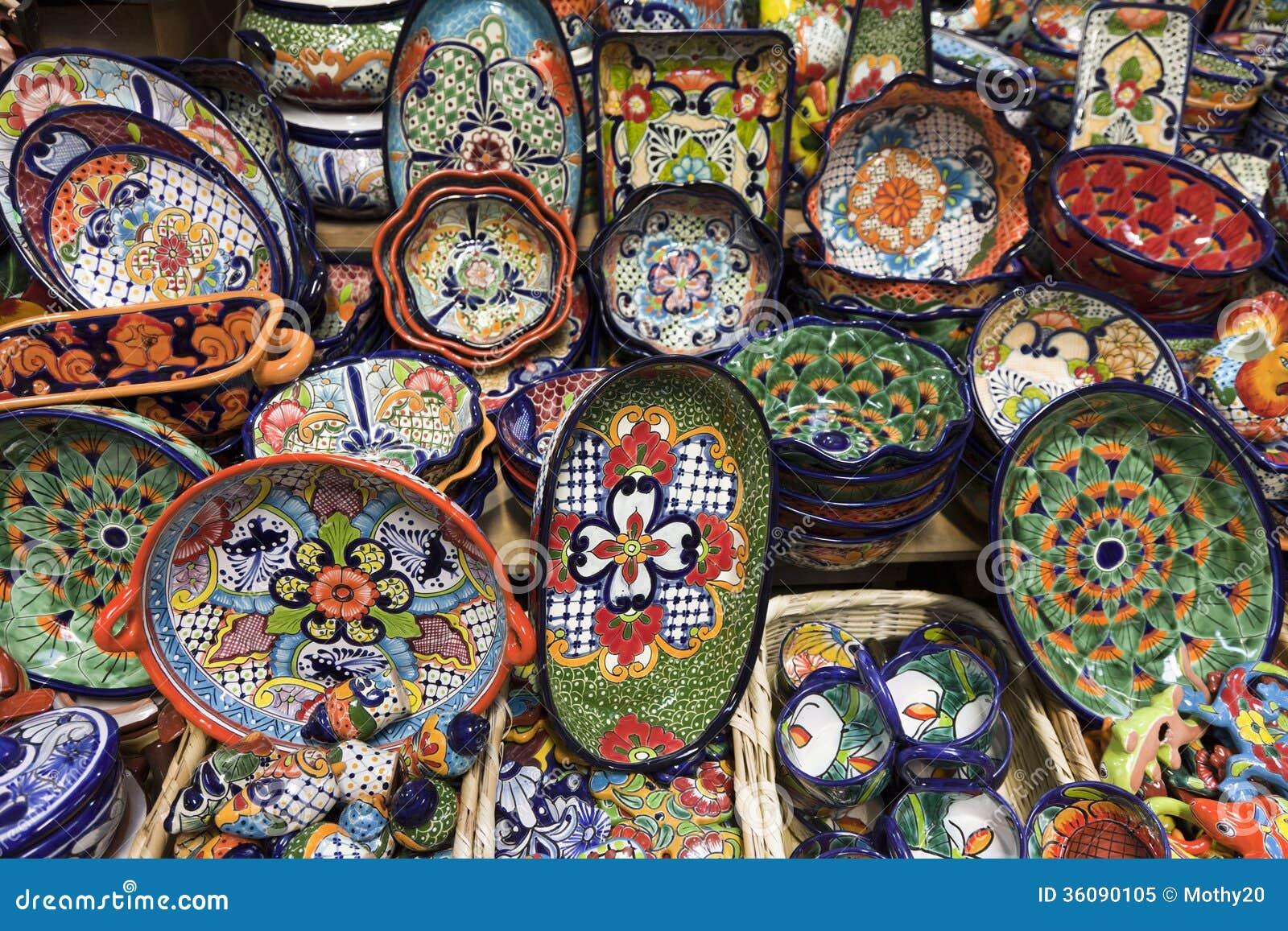 poterie en c ramique artisanale image stock image du color artistes 36090105. Black Bedroom Furniture Sets. Home Design Ideas