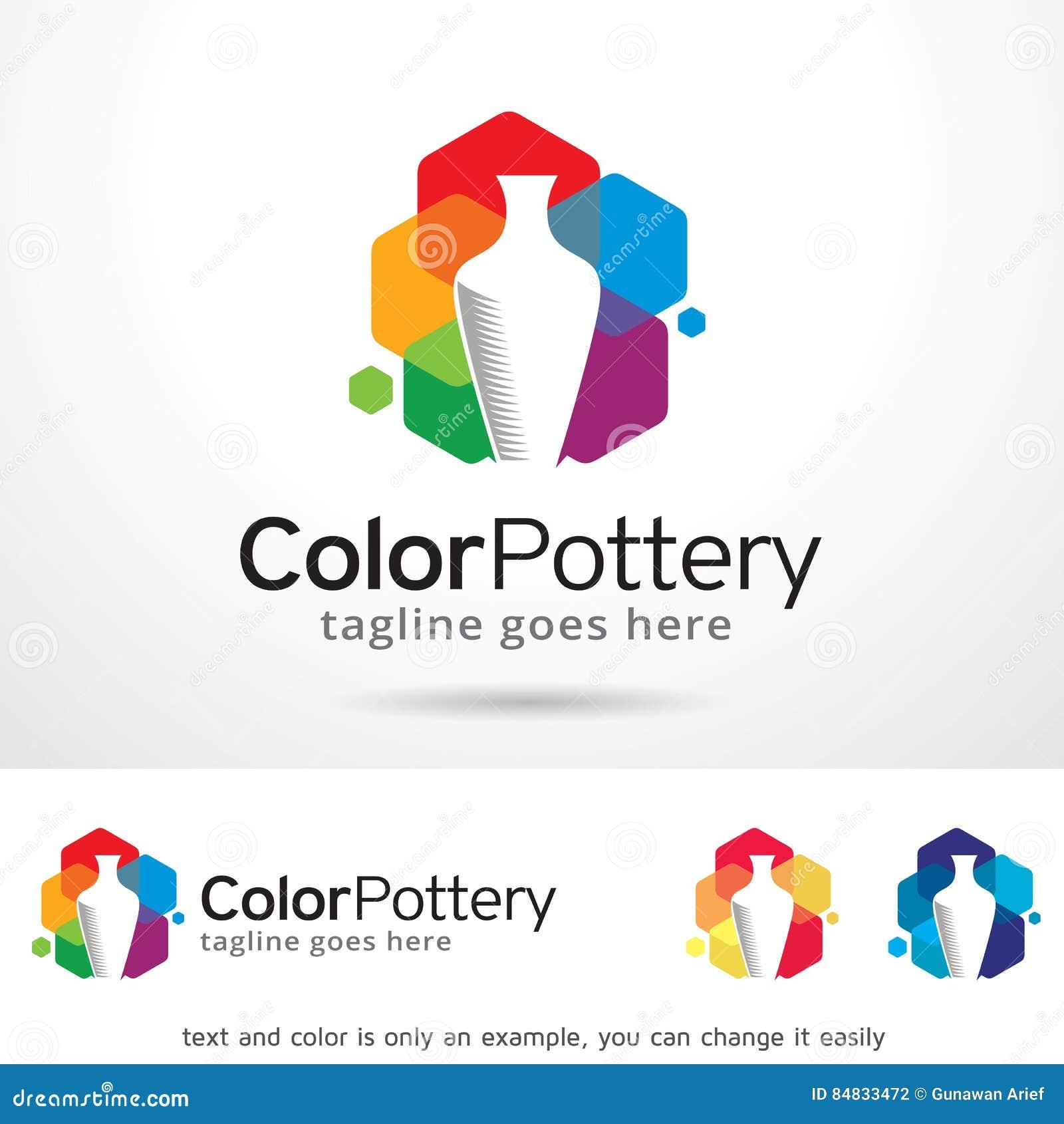 Poterie Logo Template Design Vector de couleur