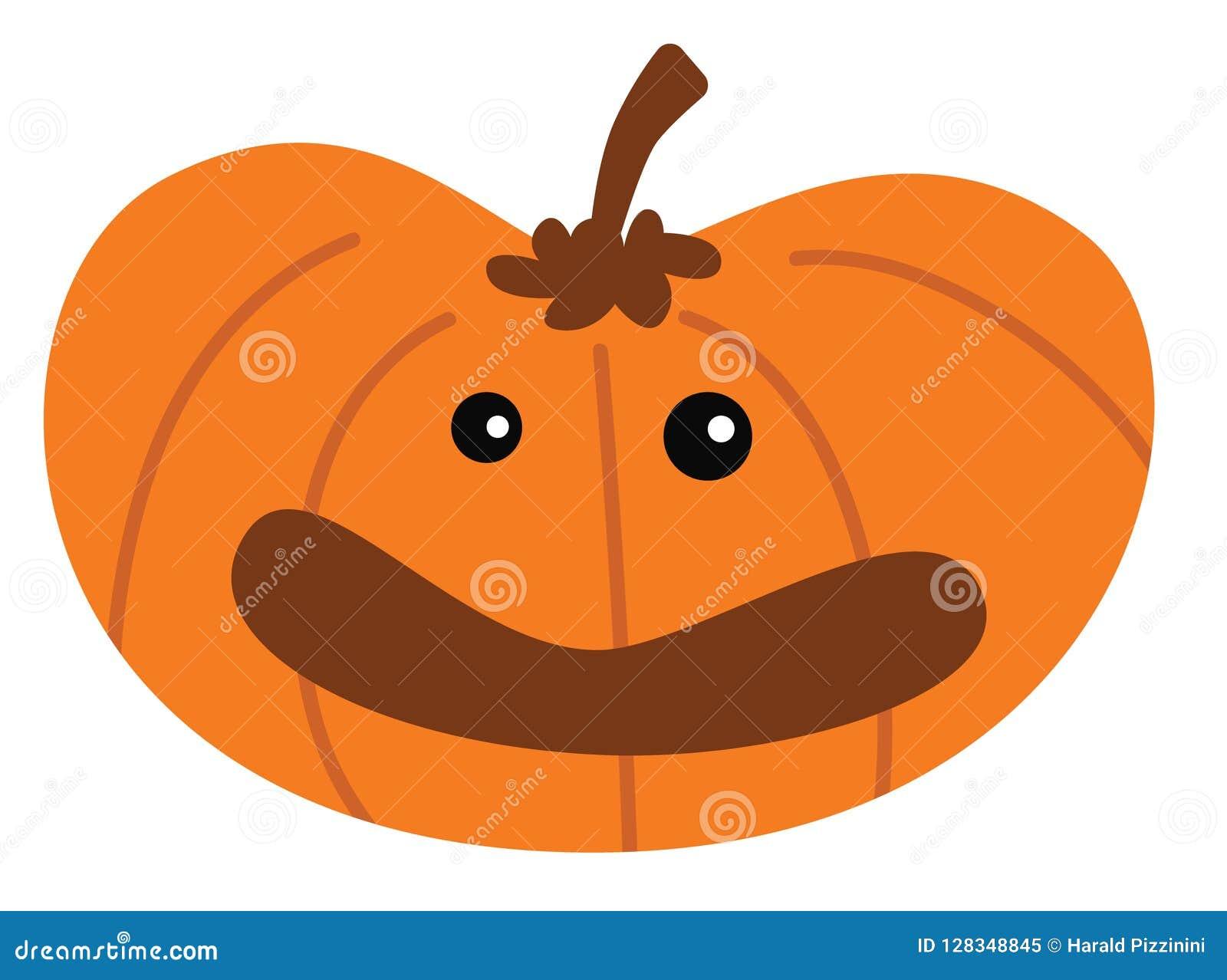 Potiron de Halloween de bande dessinée avec l expression heureuse