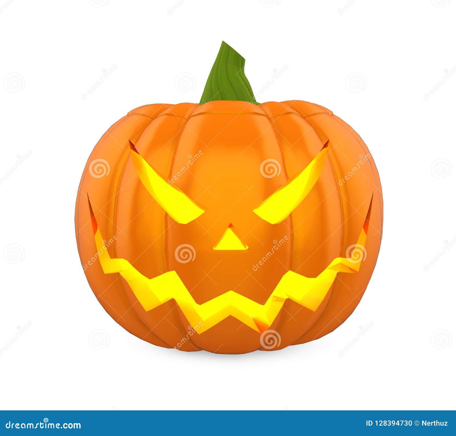 Potiron de Halloween de lanterne de Jack O d isolement