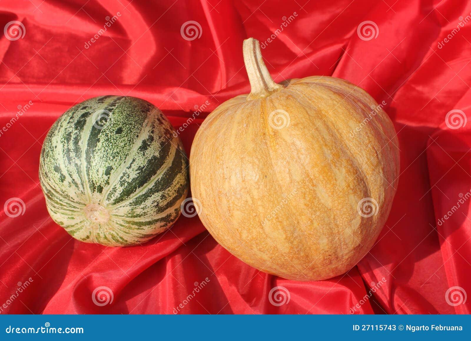Potiron et cantaloup
