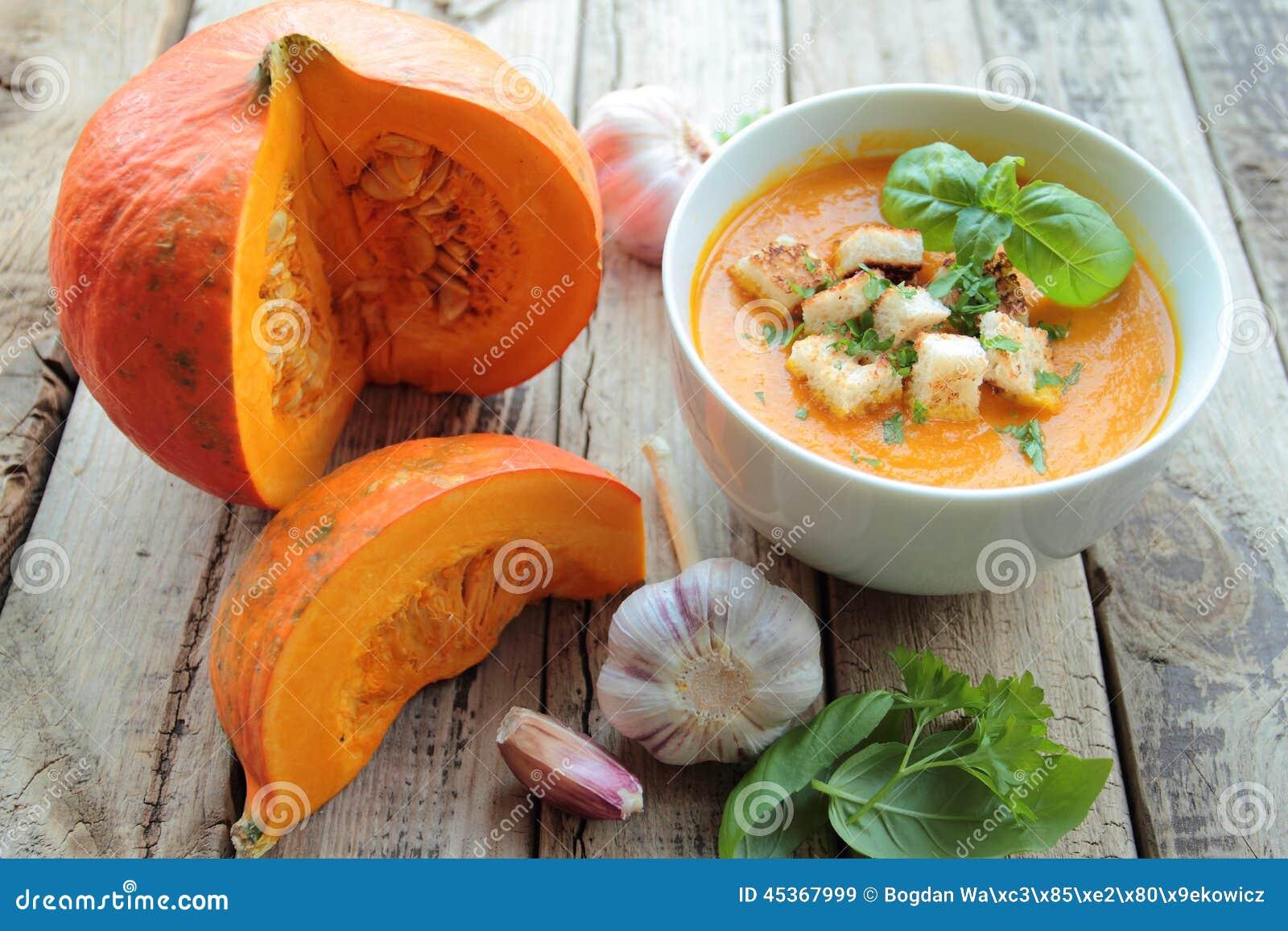 Potirons et soupe à potiron