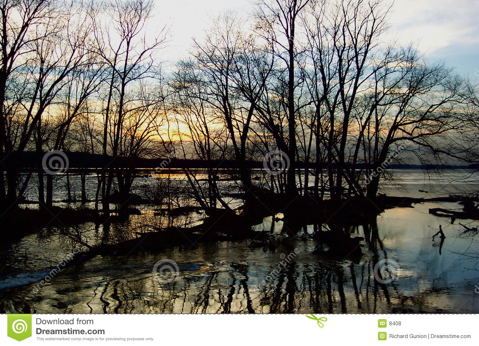 Potomac flodsolnedgång