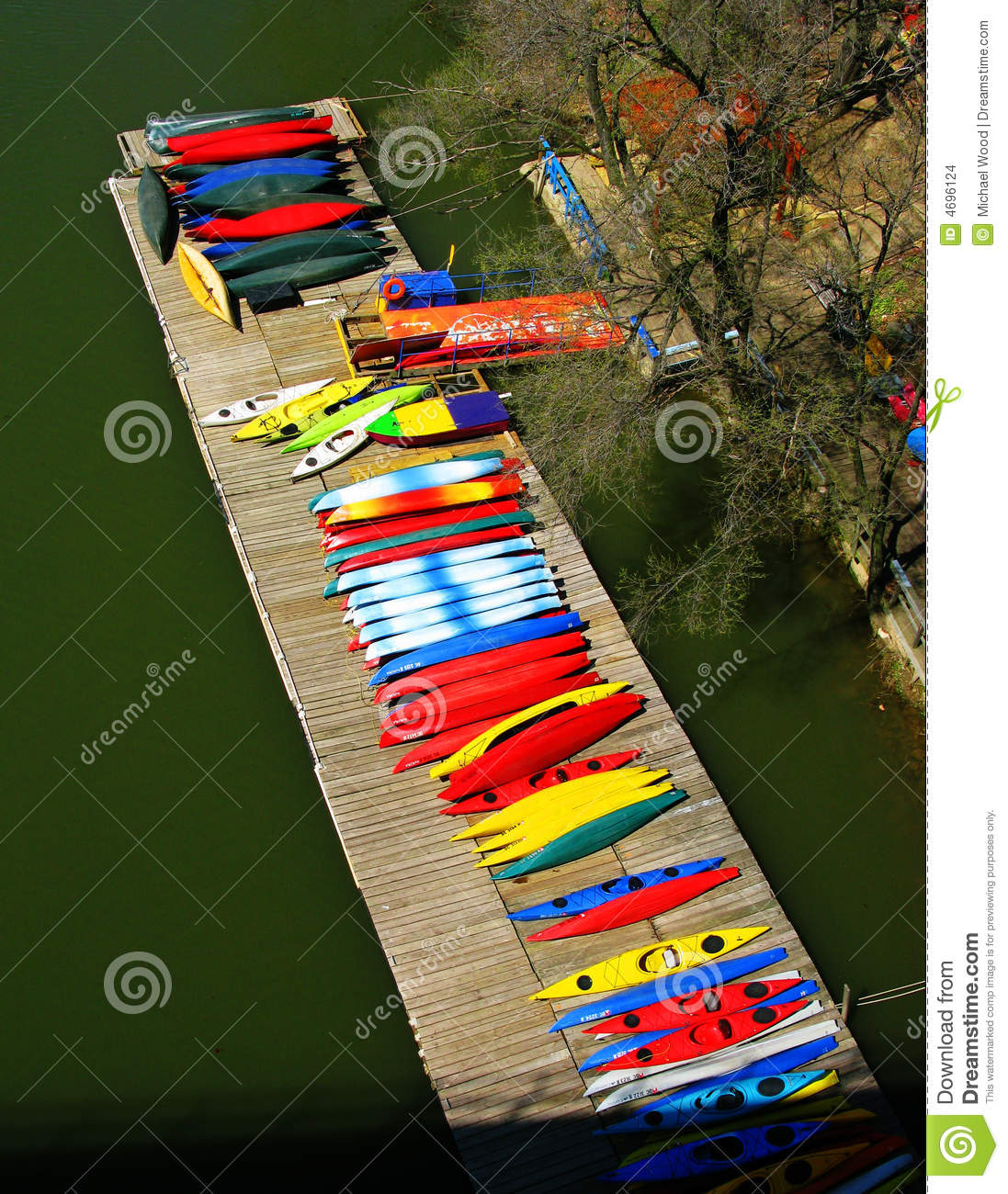 Potomac River Kayak Pier Stock Photo. Image Of River, Boat