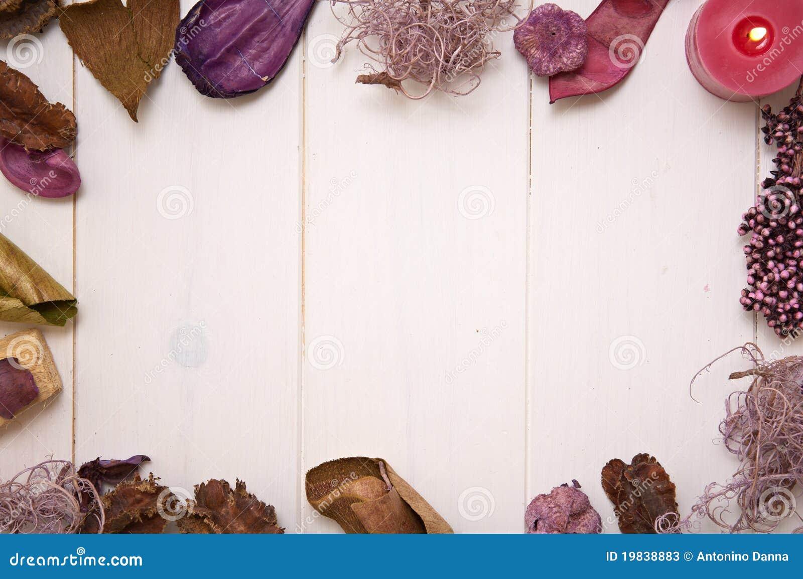 Potpourri frame wallpaper stock image. Image of romantic - 19838883
