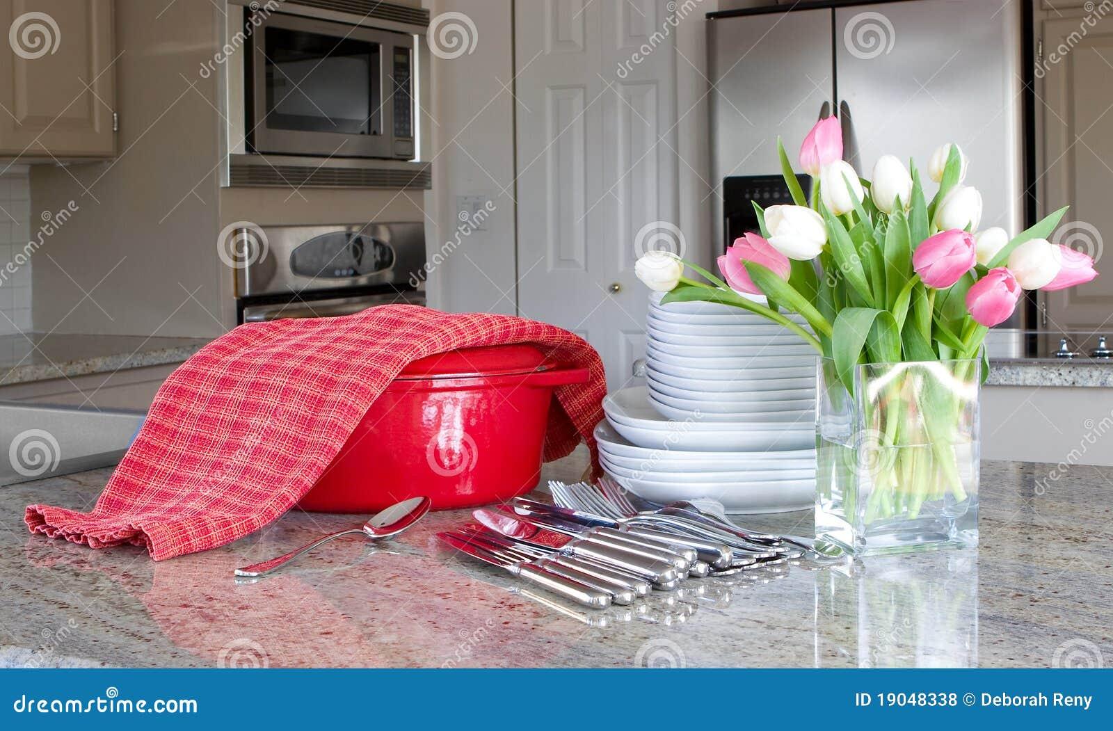 Potrawki dinnertime kuchenni nowożytni talerze