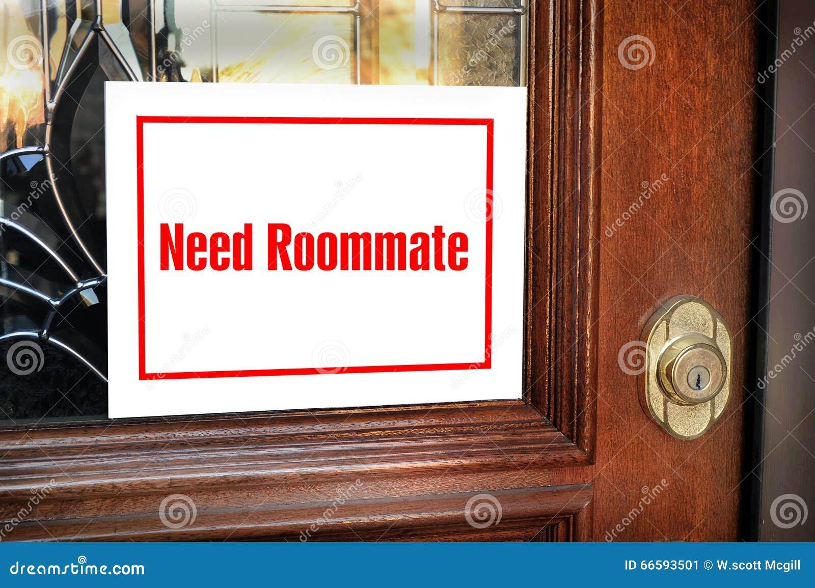Potrzeba współlokatora znak