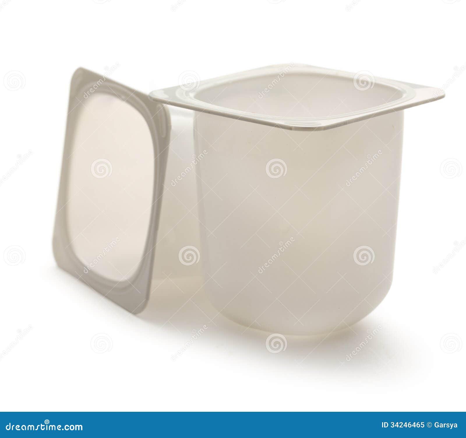 pots de yaourt photo libre de droits image 34246465. Black Bedroom Furniture Sets. Home Design Ideas