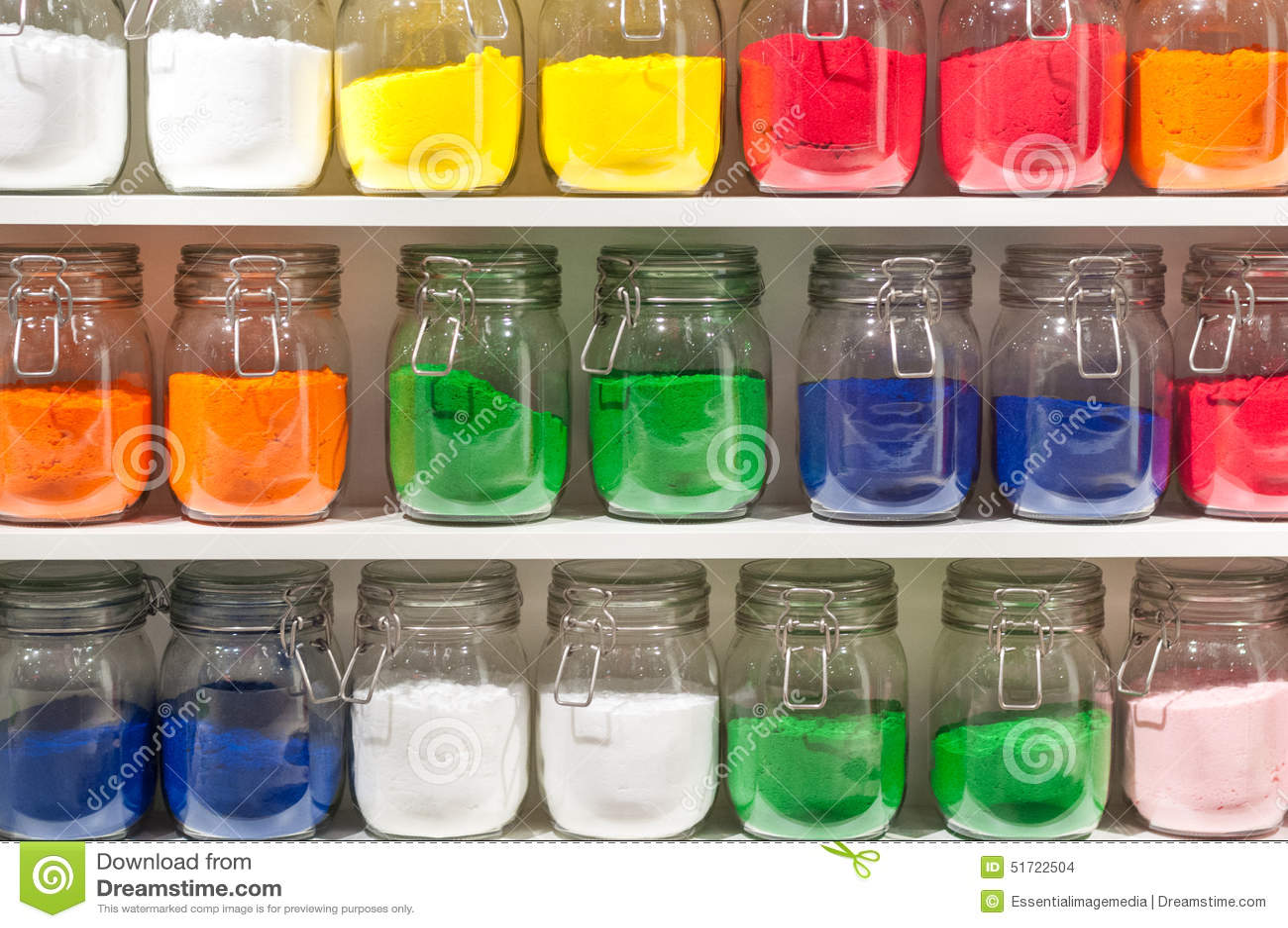 pots du sable color - Sable Colore