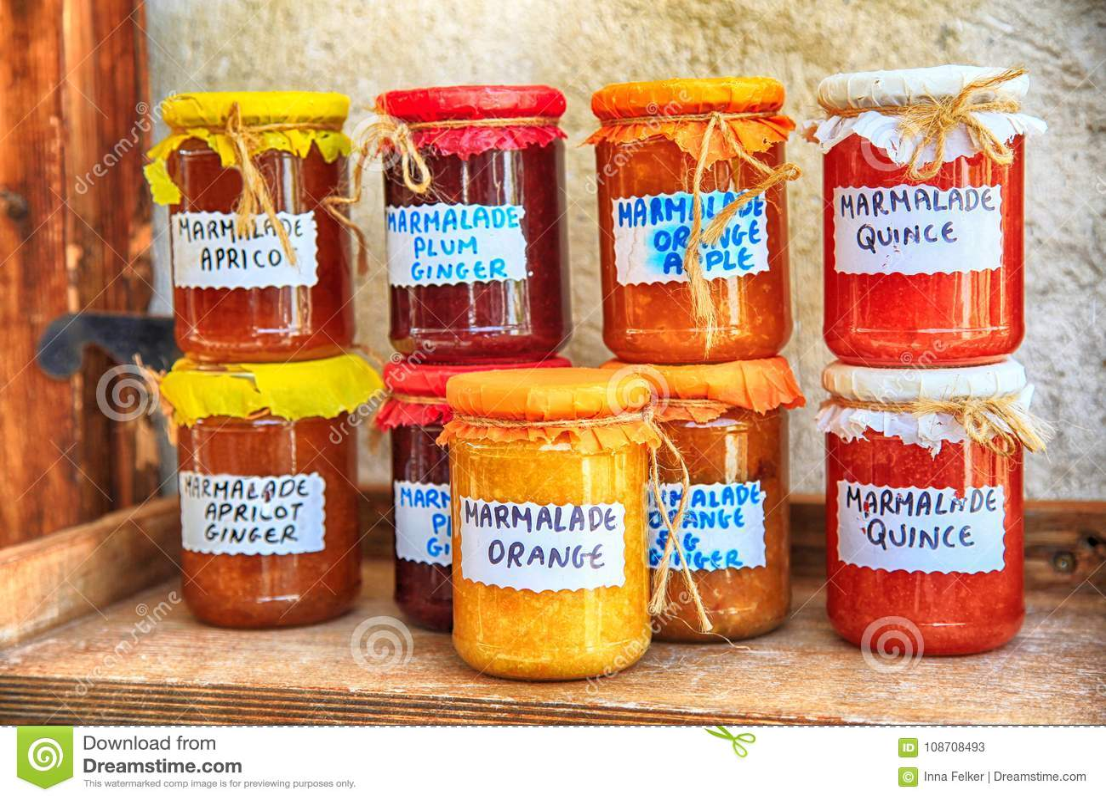 Pots En Verre De Confiture Faite Main Avec Un Label Image Stock Image Du Confiture Pots 108708493