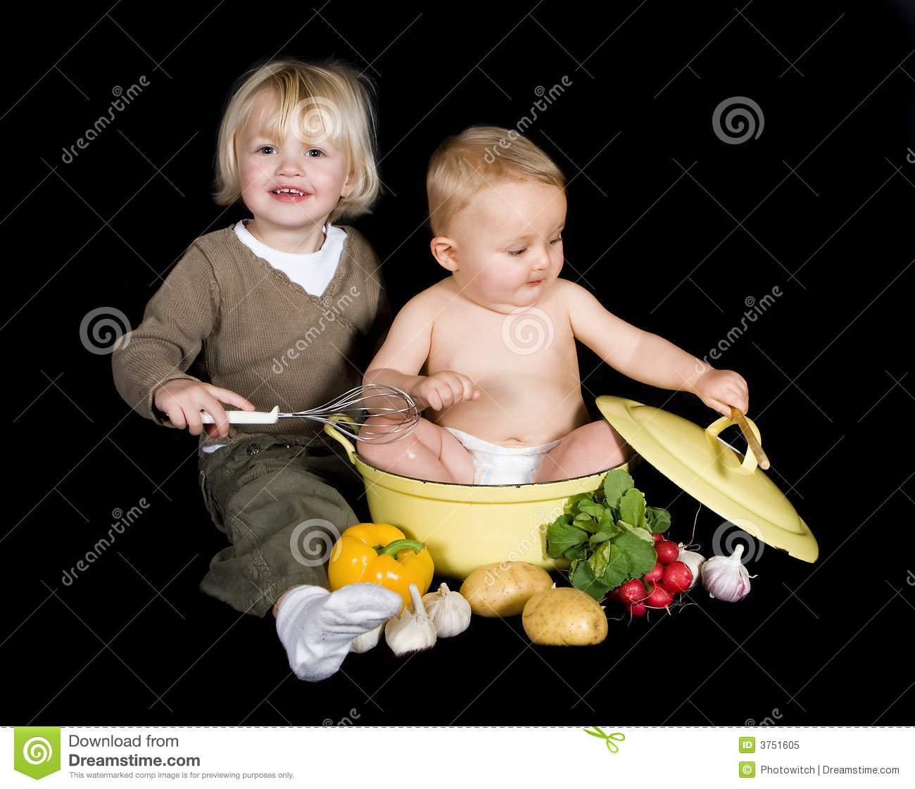 Pots And Pans For Kids Stock Image Image Of Cooking