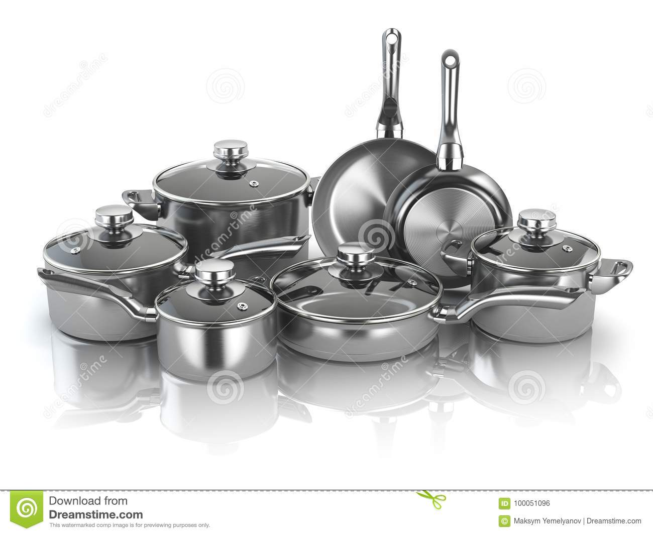 Pots And Pans  Set Of Cooking Stainless Steel Kitchen