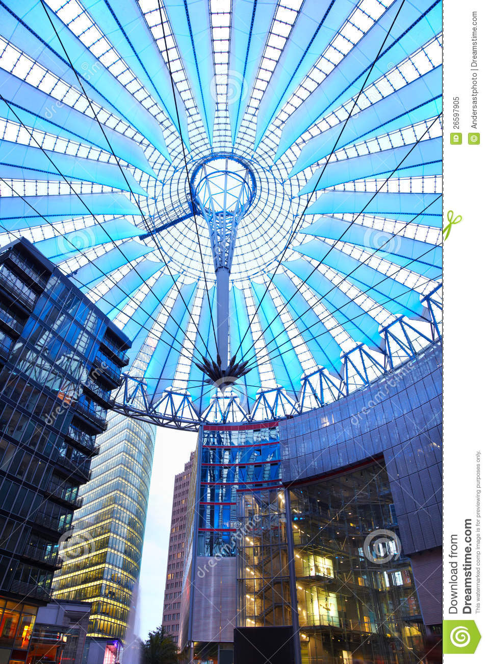 Potsdamer Platz Roof Dome In Sony Center Berlin