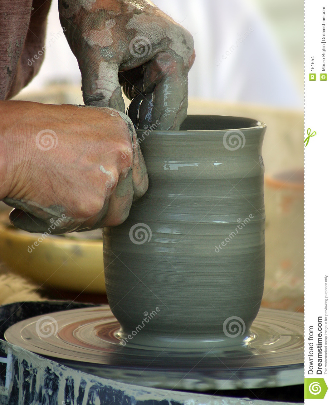 The potter s hands