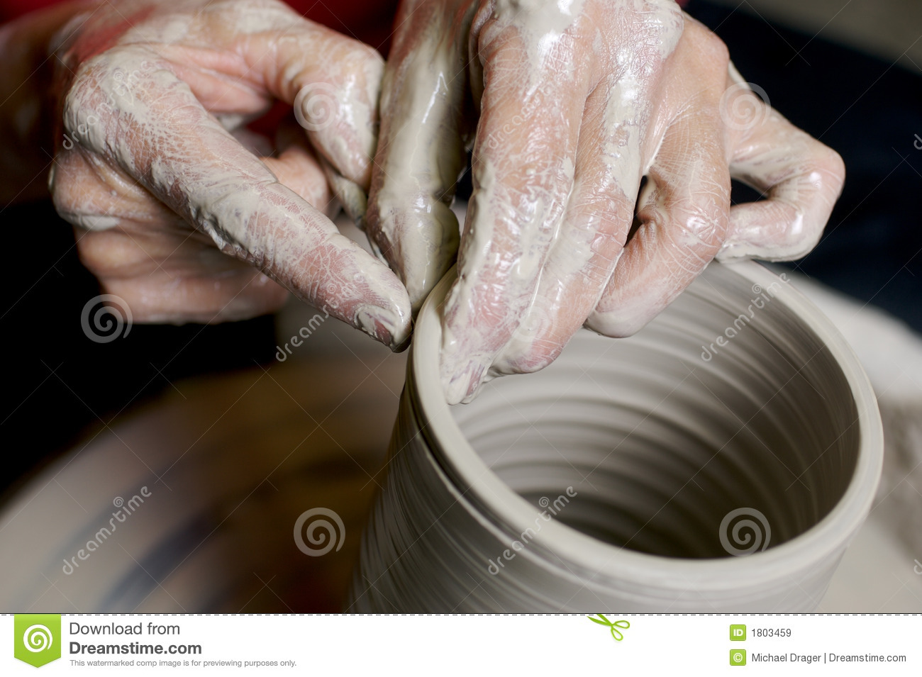 Potter Working Clay Stock Image Image Of Create Pottery