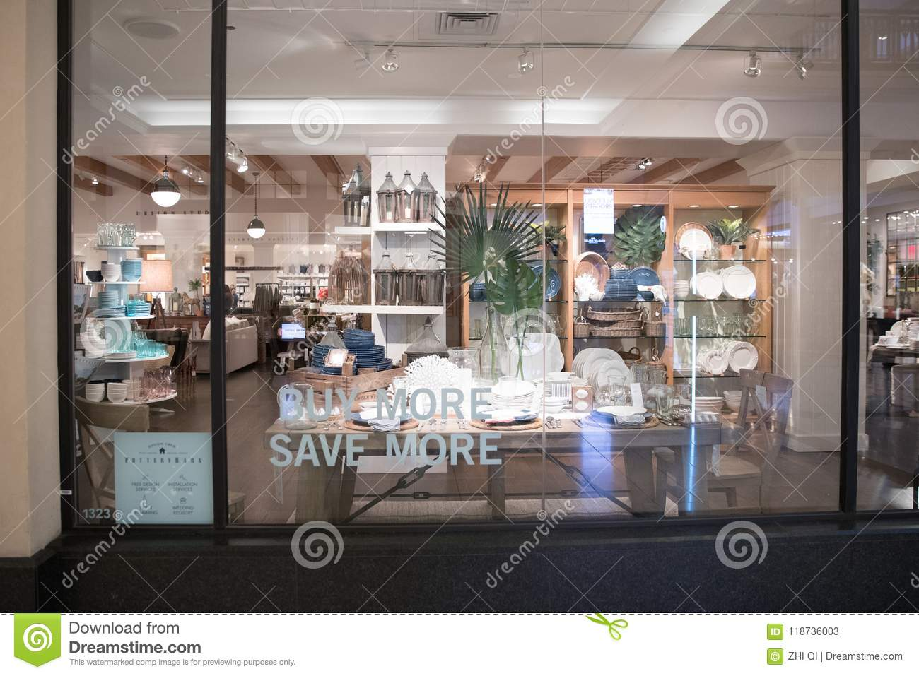 Pottery Barn Store Exterior. Editorial Stock Photo - Image ...