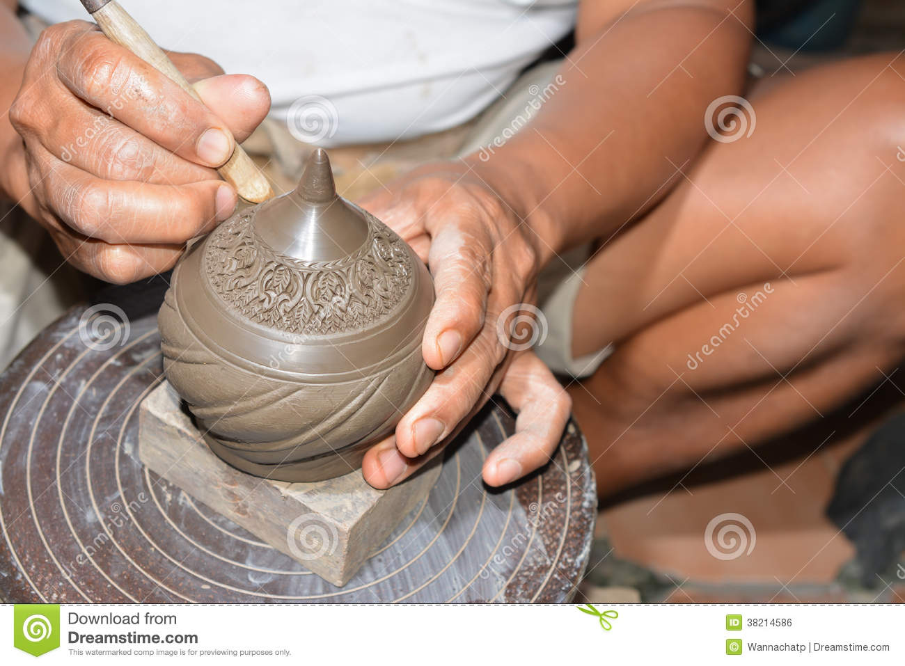 Http Www Dreamstime Com Royalty Free Stock Image Pottery Making Process Image38214586