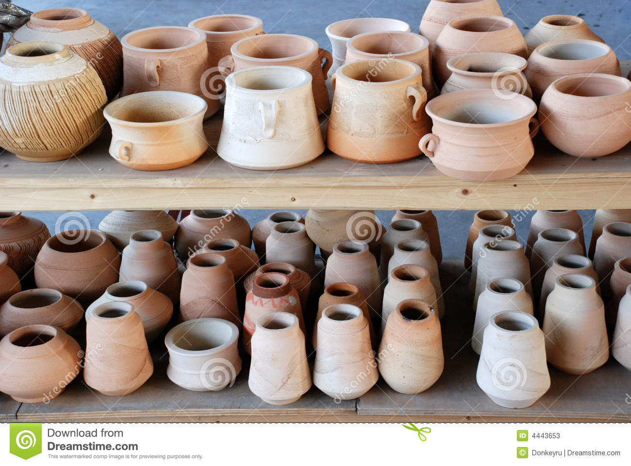 Pottery pots and vases stock image image of pots pottery 4443653 pottery pots and vases reviewsmspy