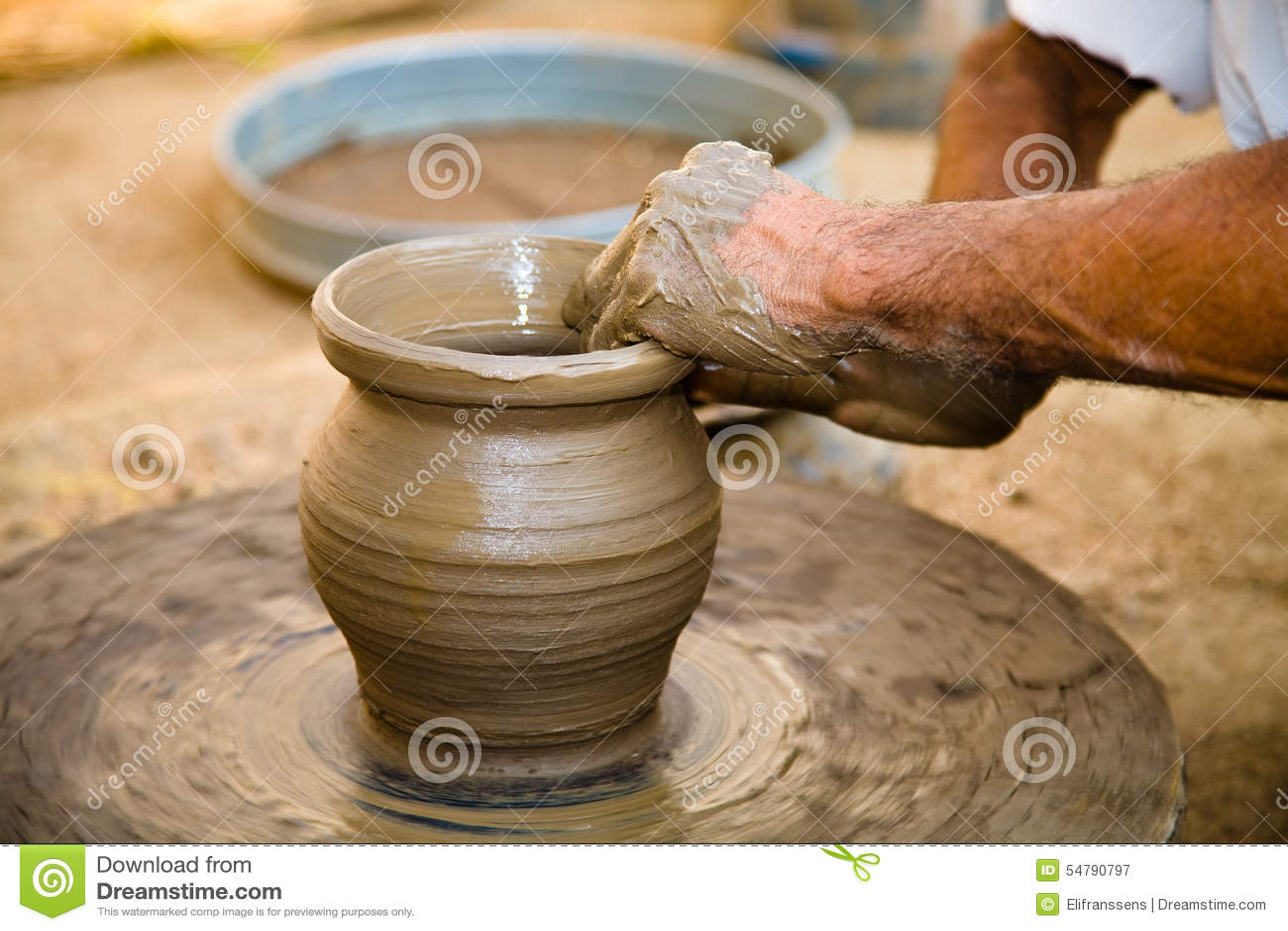 Pottery Rajasthan Indian Stock Image Image Of Craftsman