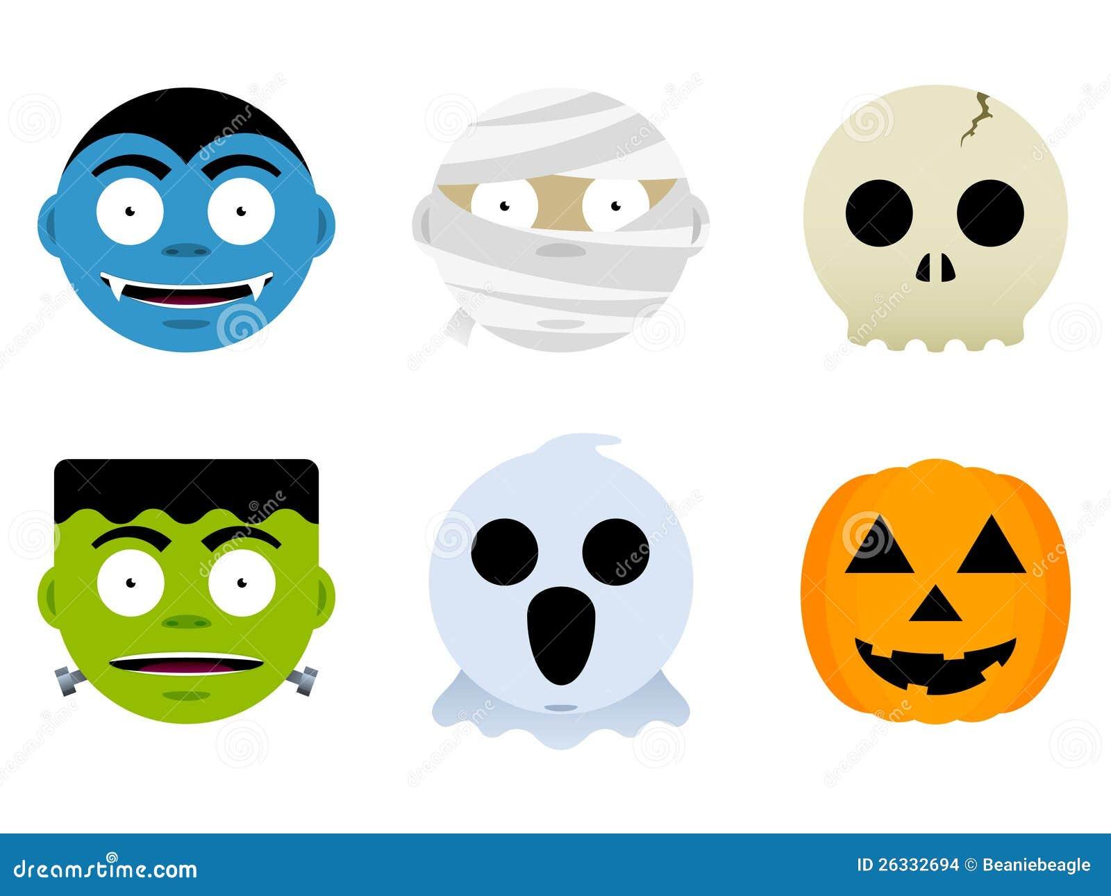 Potwór halloweenowe Twarze