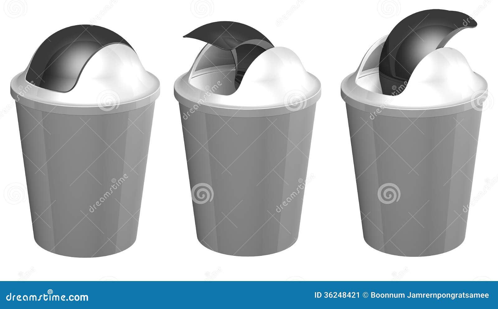 poubelle en plastique de la toilette 3d image stock. Black Bedroom Furniture Sets. Home Design Ideas