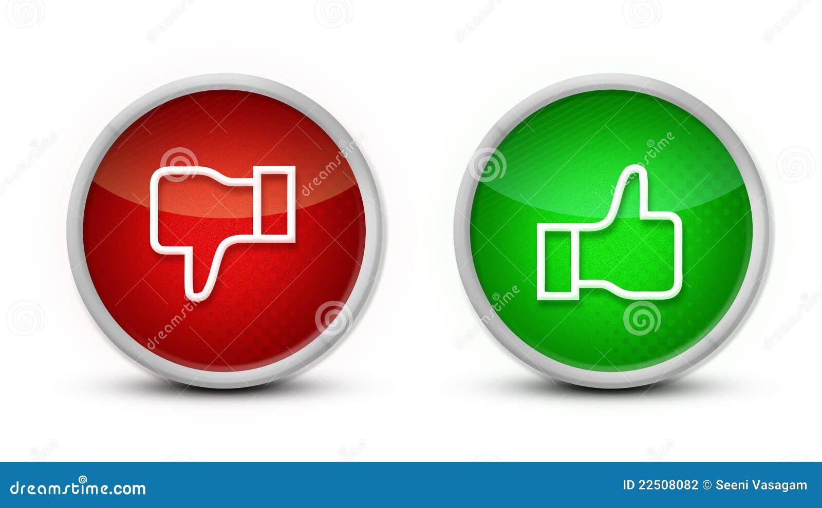 Pouce à travers des boutons