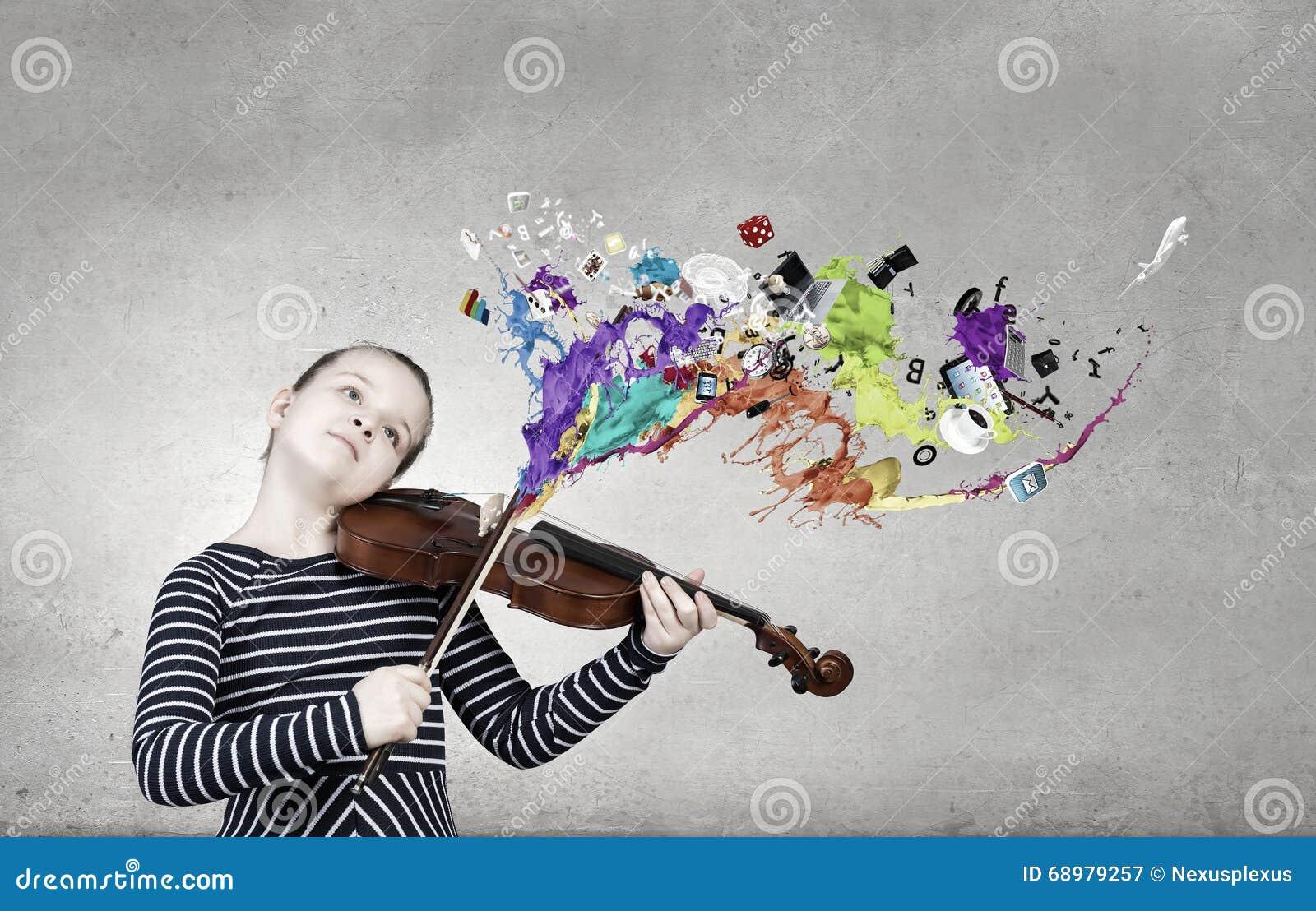 Pouco jogador do violino