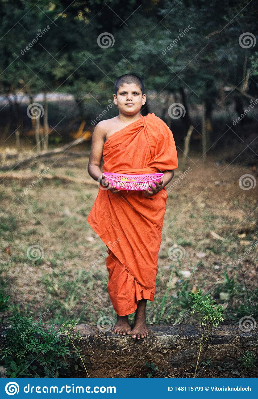 Pouco monge em Dambulla