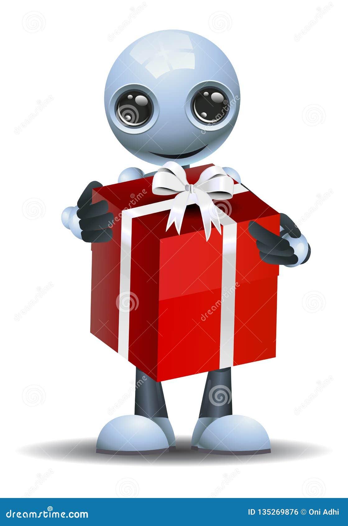 Pouco robô obteve um presente grande