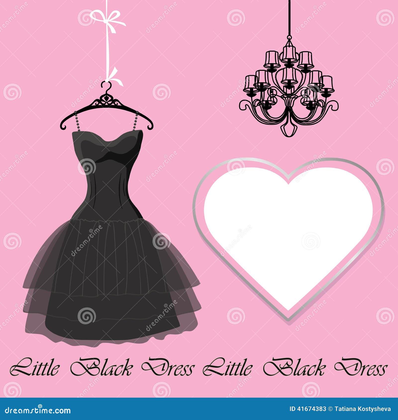 Pouco vestido preto com etiqueta e candelabro
