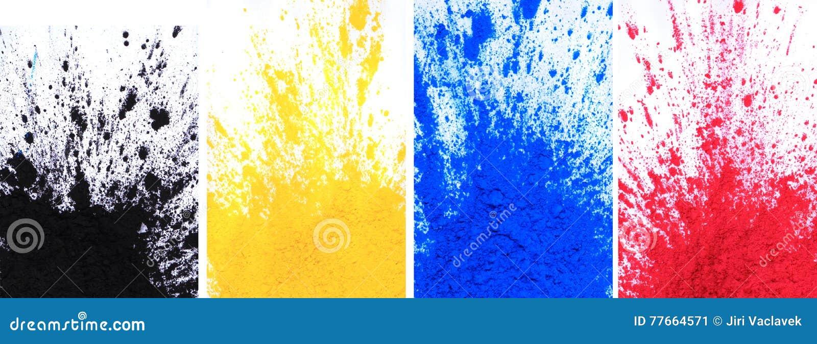 Poudre de toner de Cmyk et x28 ; cyan, magenta, jaune, black& x29 ;