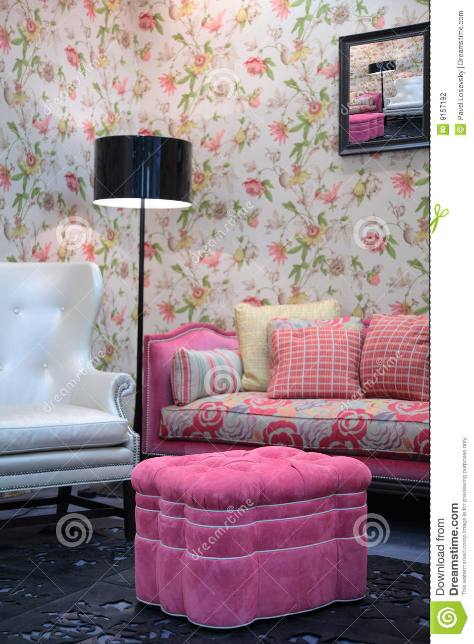 pouf in living room stock photography image 9157192