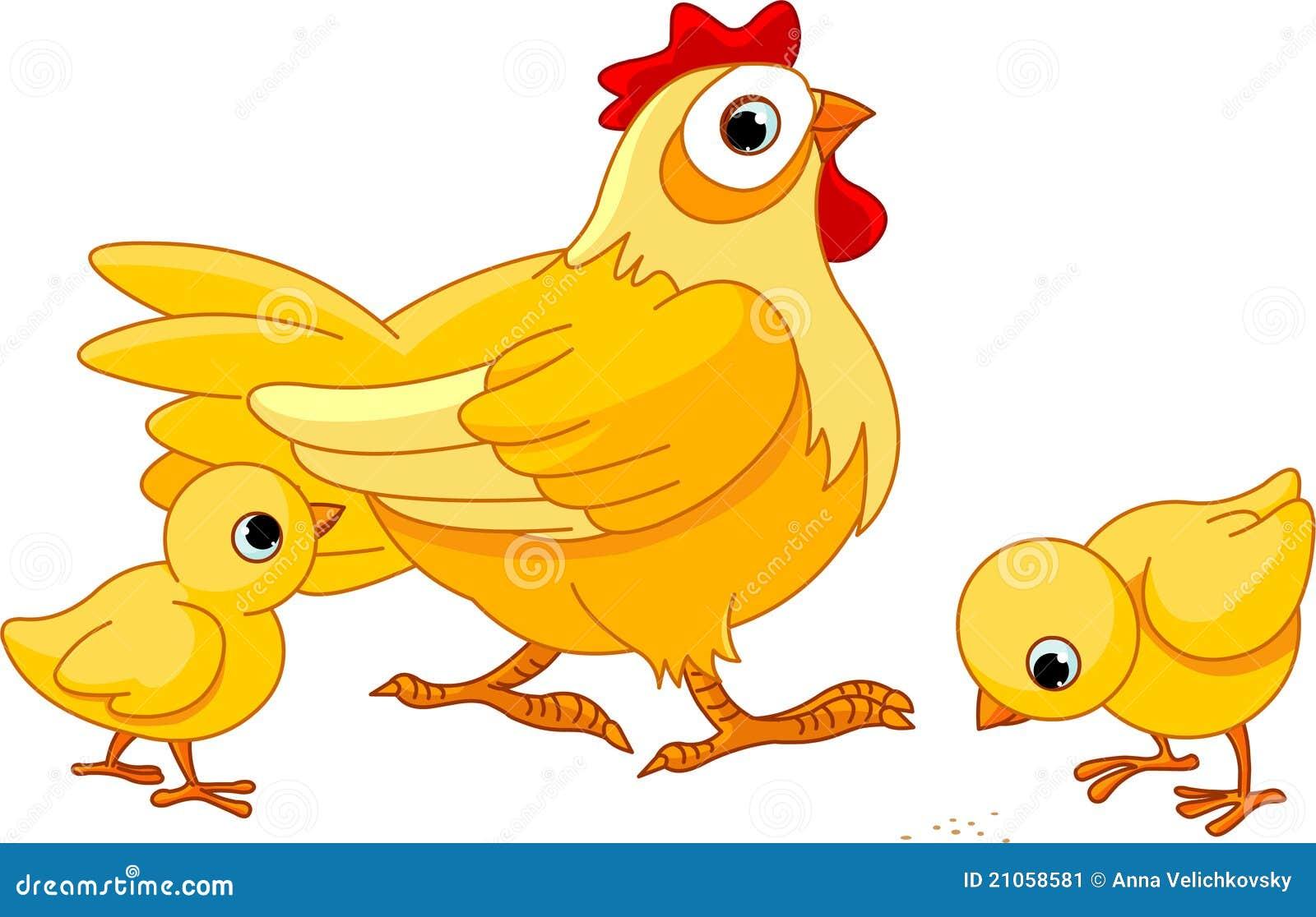 Poule et nanas