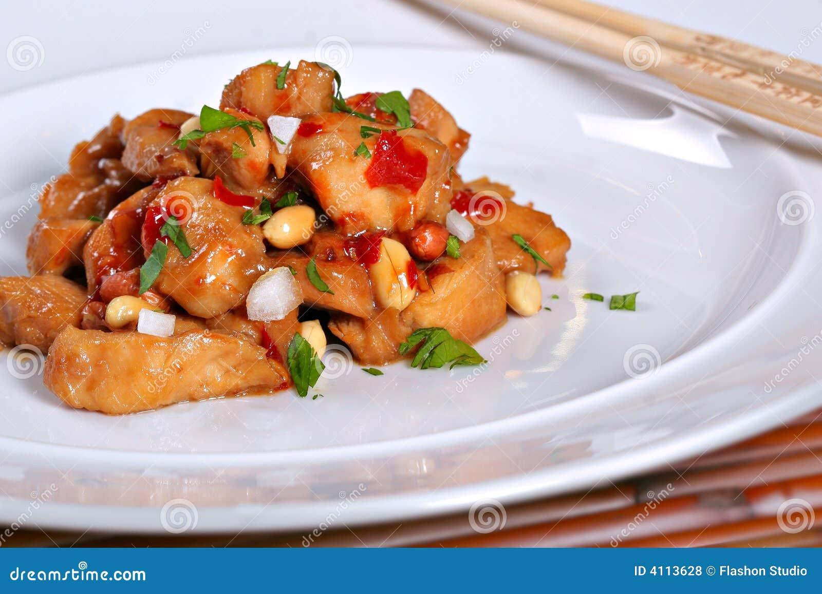 Poulet chinois de Kung PO de nourriture