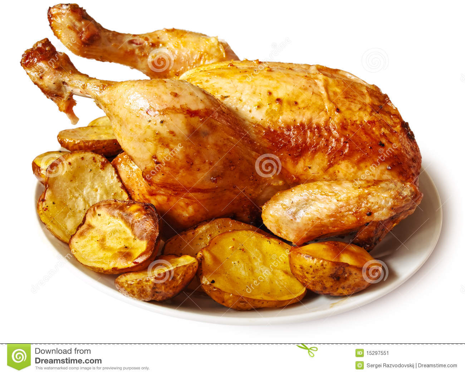 Poulet cuit au four image stock image 15297551 - Blanc poulet au four ...