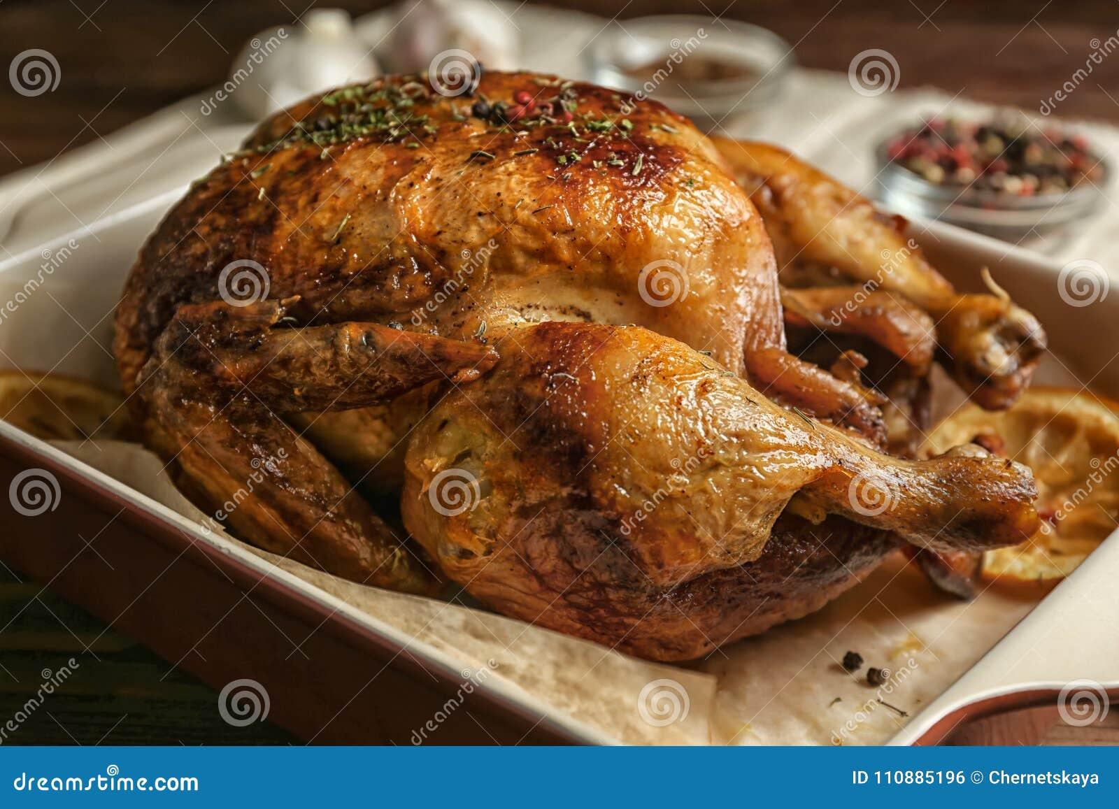 Poulet cuit au four fait maison avec le citron