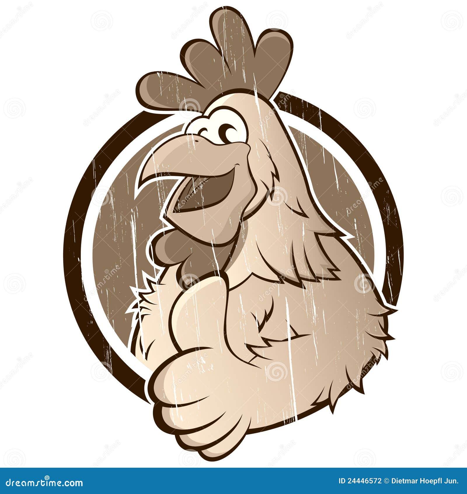 Poulet de dessin anim de cru photographie stock image - Dessin de poulet ...