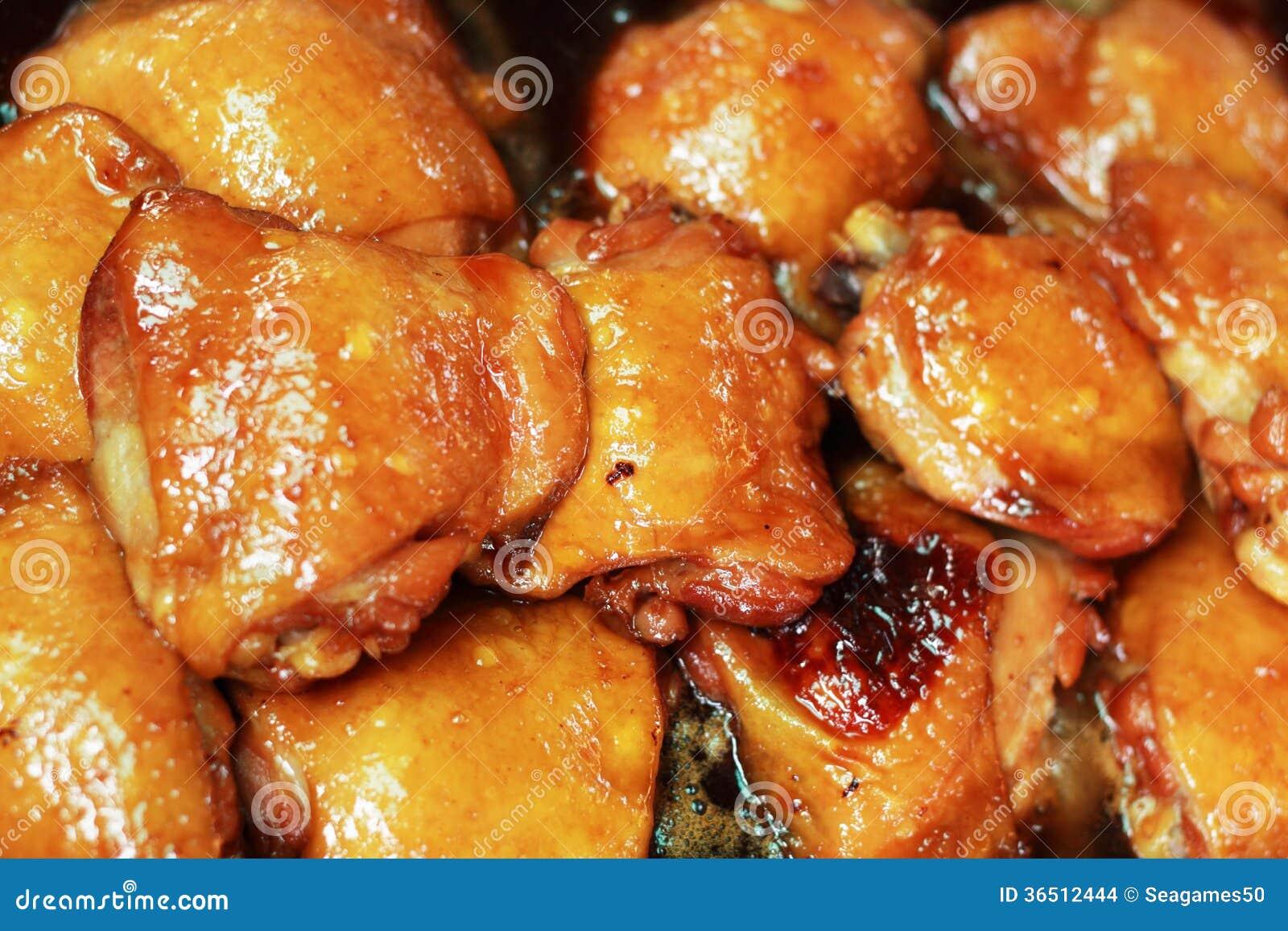 Poulet de ragoût comme garniture