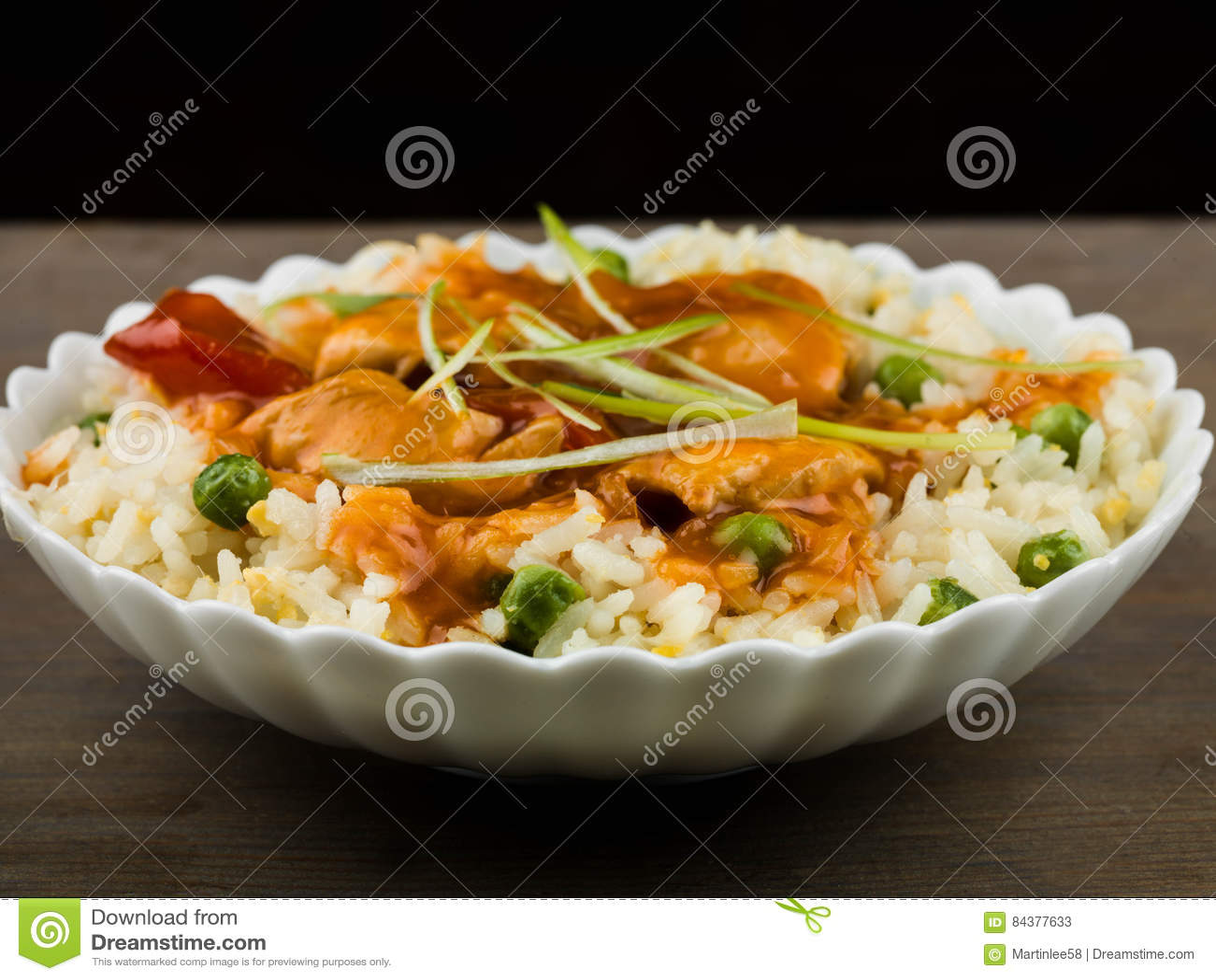 Poulet doux et aigre chinois
