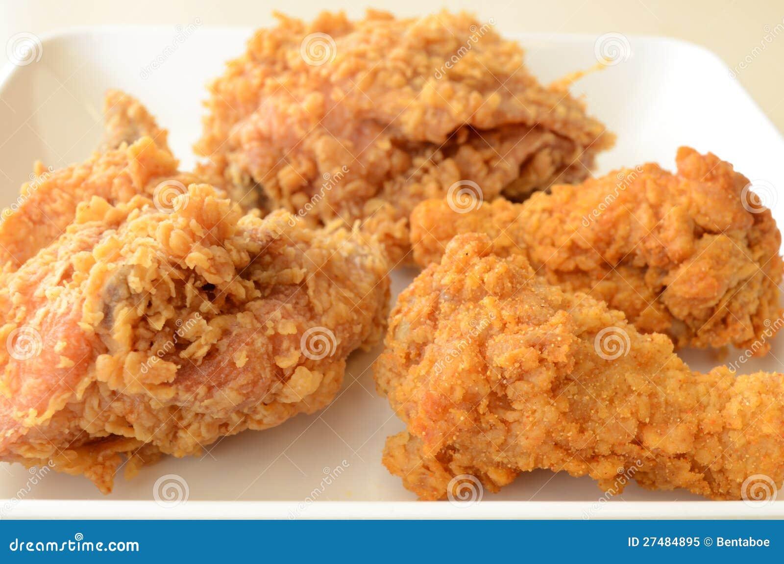 poulet frit brun d 39 or image stock image du cuisinier. Black Bedroom Furniture Sets. Home Design Ideas