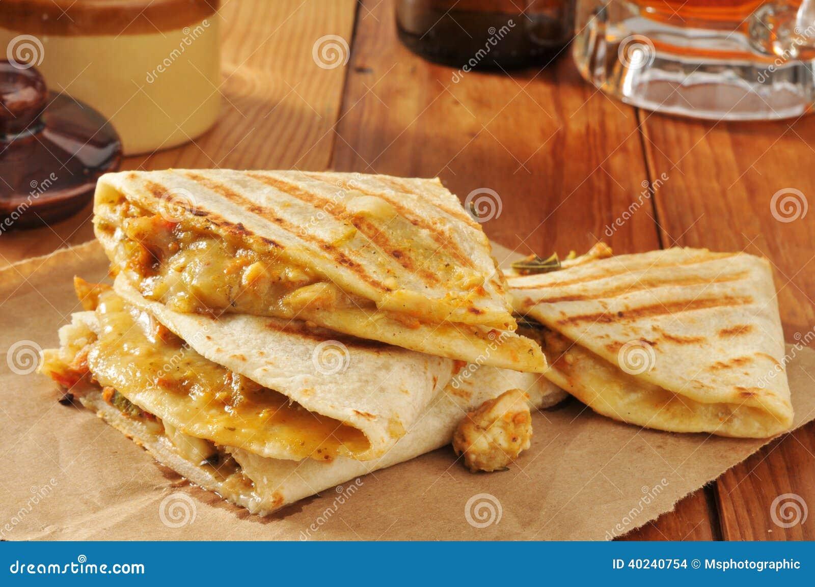 Poulet Quesadillas