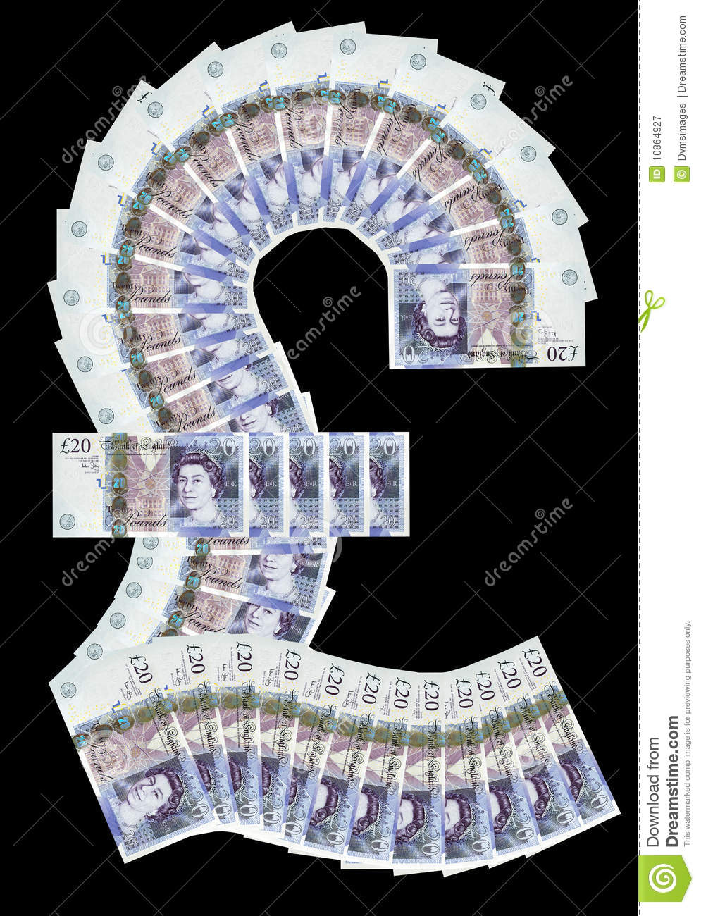 Pound Symbol Royalty Free Stock Photography Image 10864927