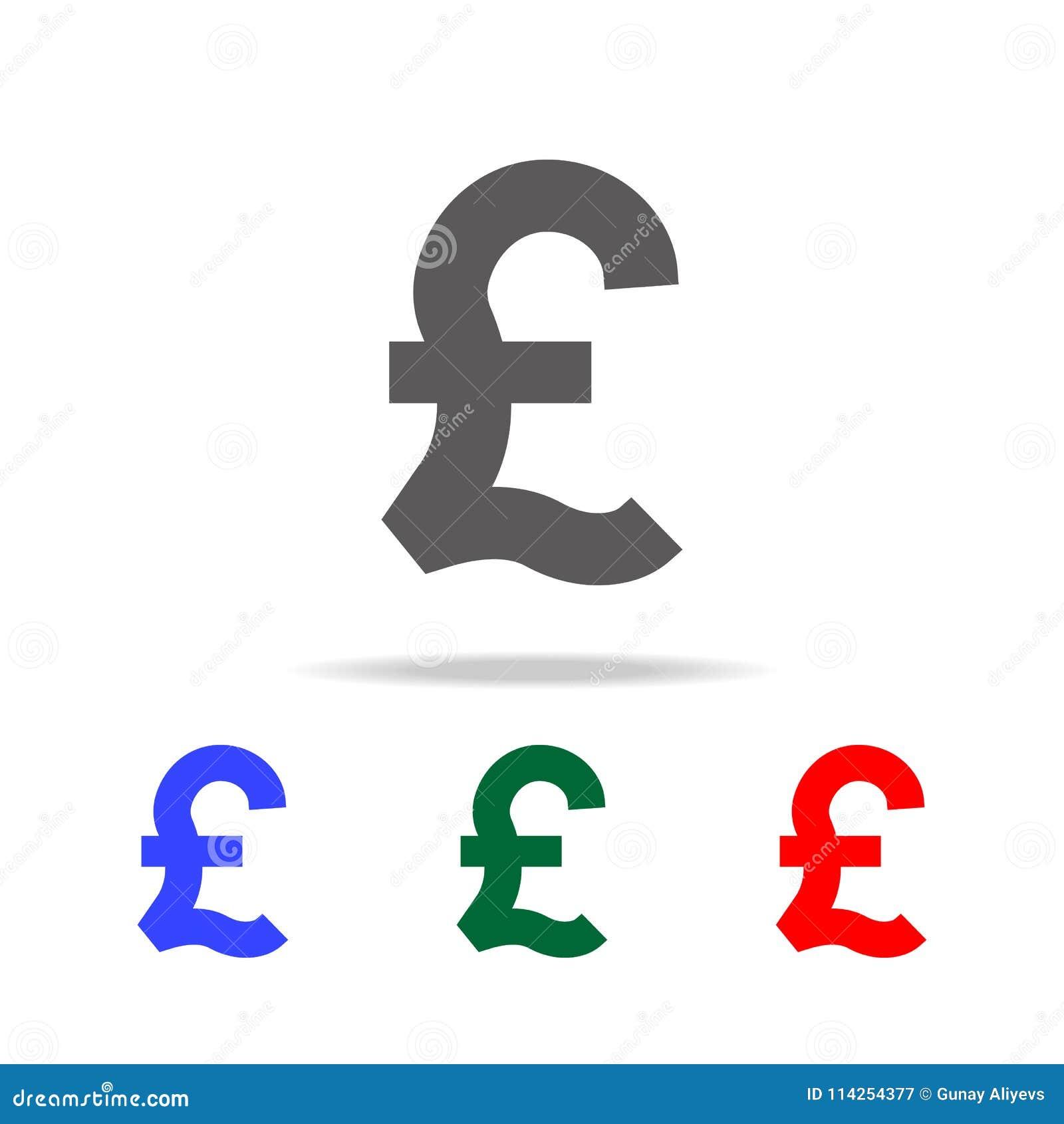 Pound Symbol Icon Elements Of United Kingdom Multi Colored Icons