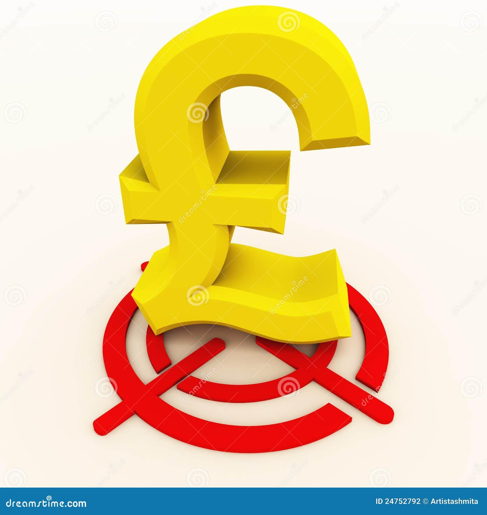 Pound On Target Stock Illustration Illustration Of Sell 24752792