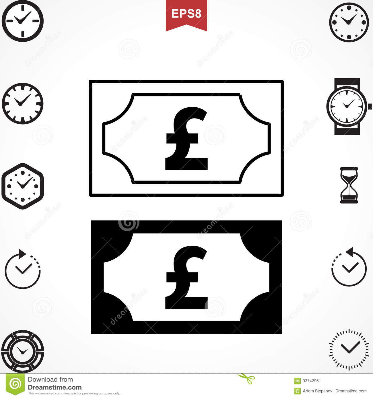 Pound Vector Icon Stock Vector Illustration Of Marketing 93742961