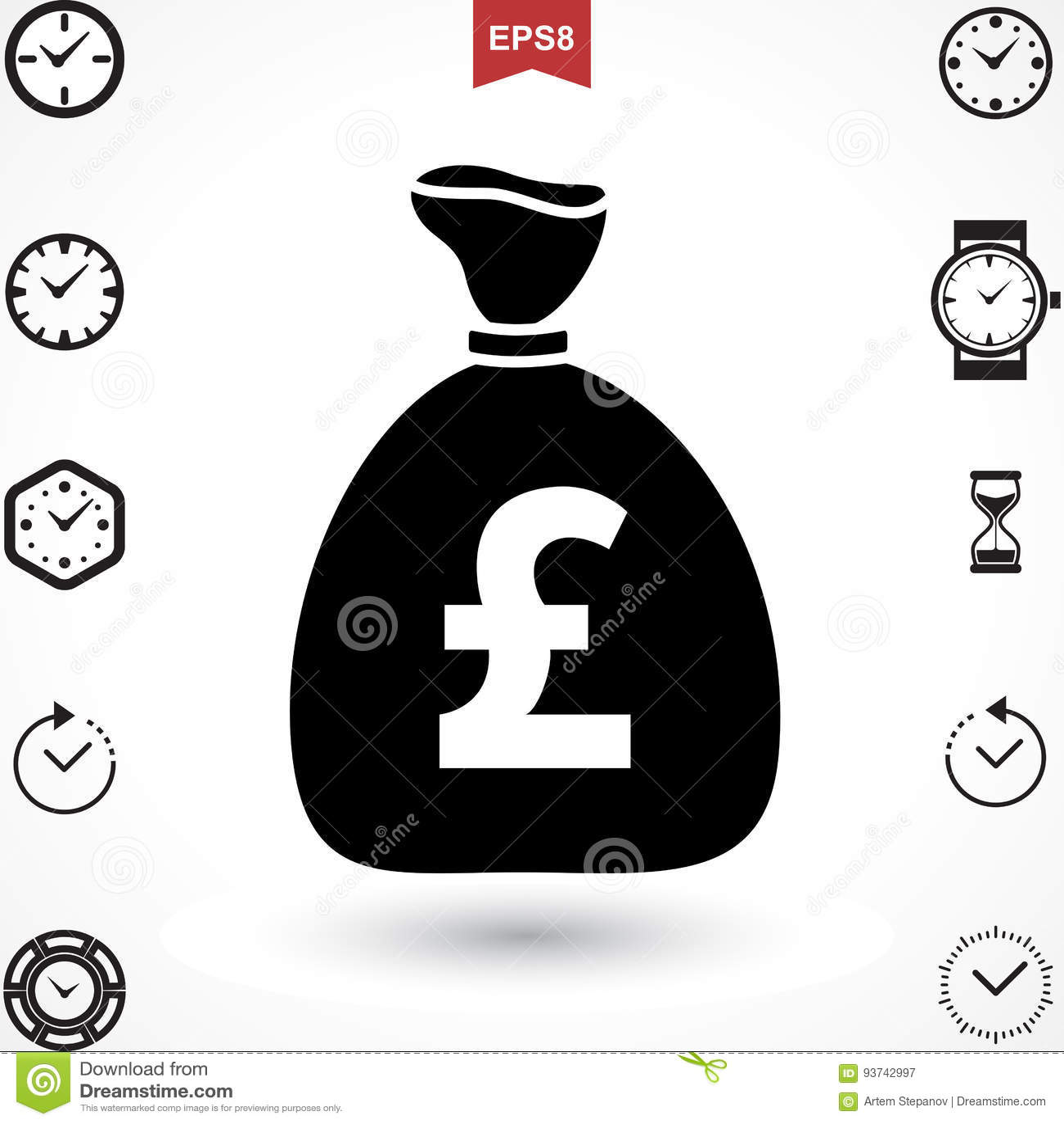 Pound Vector Icon Stock Vector Illustration Of Money 93742997